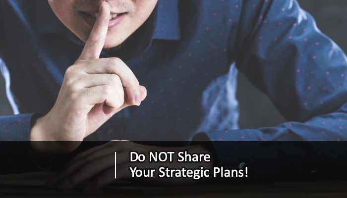 Title: Do not share your strategic plans